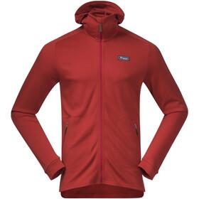 Bergans Tuva LT Hooded Wool Jacket Men red sand